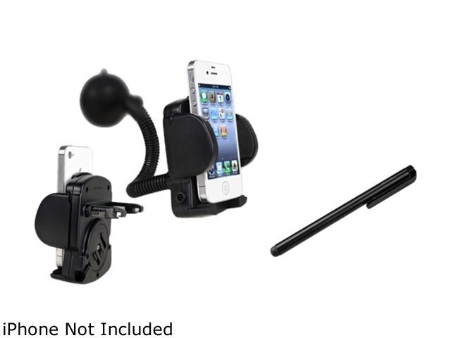 Insten Black Touch Screen Stylus+black Cellphone & PDA Holder - Windshield Mount Compatible With Samsung Galaxy S iii i9300 T999 i747 i535 L710