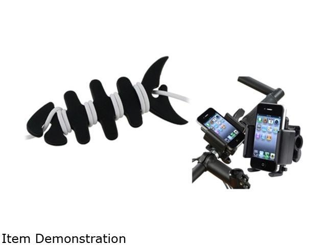 Insten Black Bike Handle Holder + Fishbone Wrap Compatible with Samsung Galaxy S3 i9300 S4 i9500