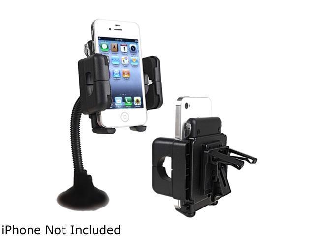 Insten Swivel Windshield Phone Holder Compatible with Blackberry Z10, Black