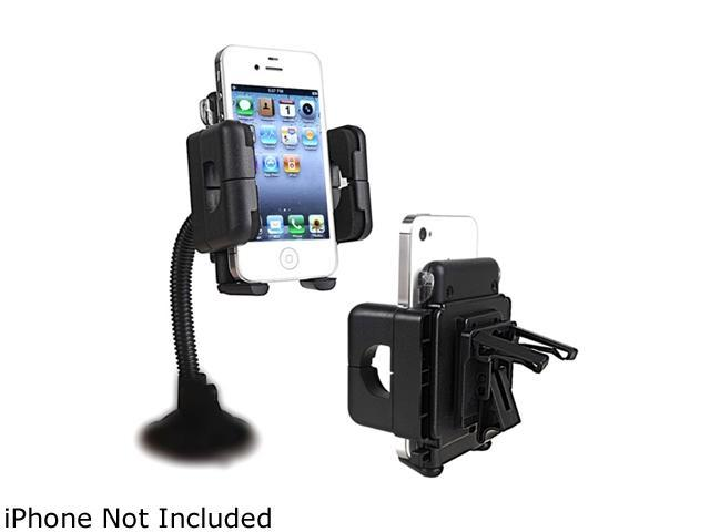 Insten Swivel Windshield Phone Holder Compatible with HTC One M7, Black