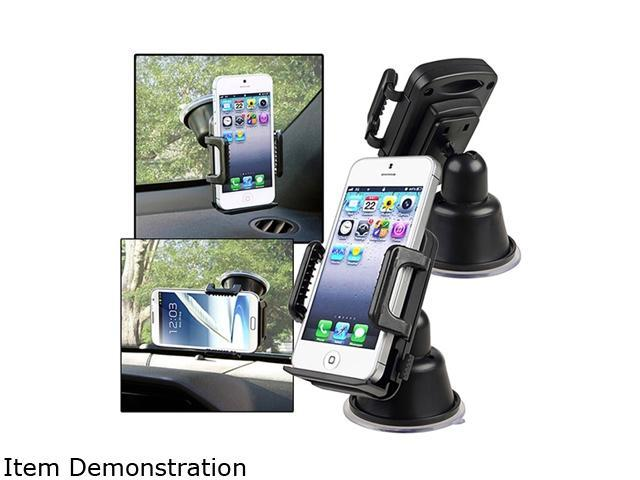 Insten Suction Mount In Car Phone Holder Compatible with HTC One M7, Black