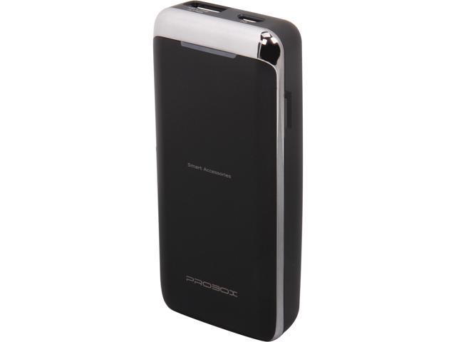 Mediasonic ProBox Black 5200 mAh Universal Power Bank 5200mAh Battery Capacity - Sanyo Battery Cell HE-1-52U1