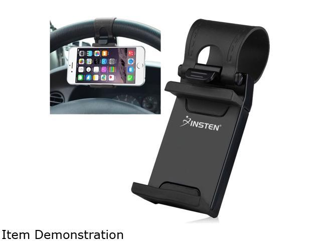 Insten Black Car Steering Wheel Clip Mount Holder Cradle Stand For iPhone 6 5 4 Samsung Galaxy S6 S5 HTC One Mobile Phone GPS 2117818