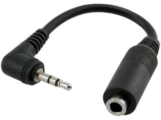 Insten 1044580 Black Universal Headphone Adapter 2.5mm to 3.5mm
