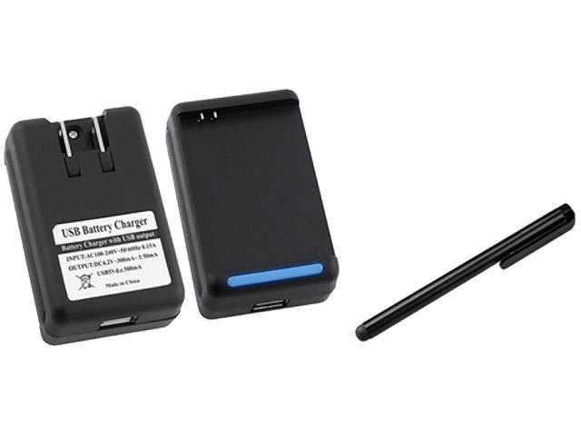 Insten Desktop Battery Charger +Black Touch Screen Stylus Compatible With Samsung Galaxy Note LTE SGH-i717, Galaxy Note N7000