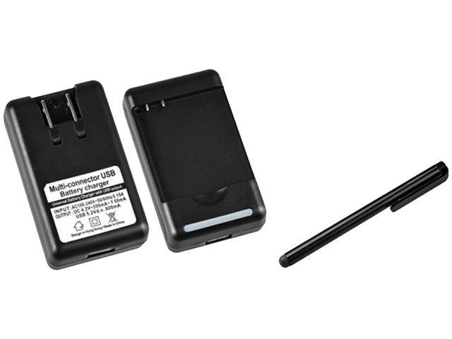 Insten Desktop Battery Charger +Black Touch Screen Stylus Compatible With HTC EVO 3D, Z710e / Sensation 4G / Pyramid