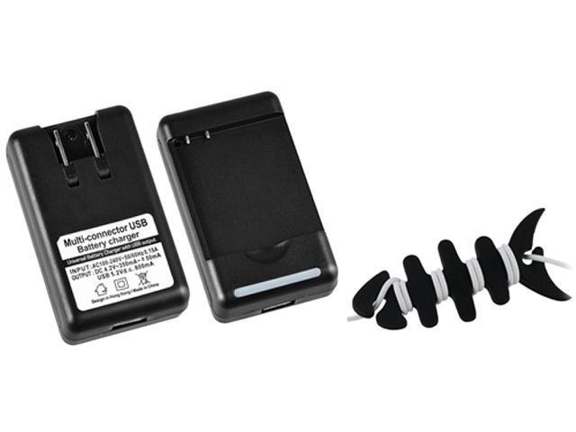 Insten Desktop Battery Charger +Black Headset Smart Wrap Compatible With HTC EVO 3D, Z710e / Sensation 4G / Pyramid