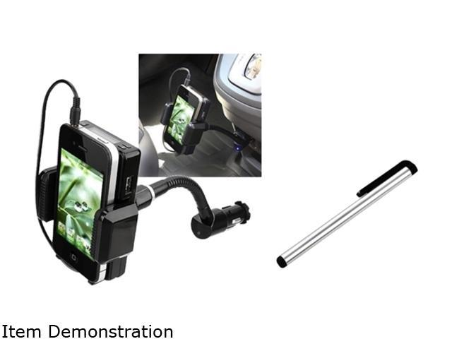 Insten 3.5mm FM Transmitter Charger + Stylus Compatible with Samsung Galaxy S4 SIV i9500 i9300 Nexus