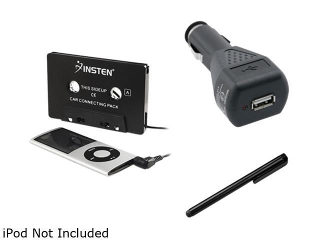 Insten 2-in-1 Car Cassette Adapter + Black Stylus Compatible with Samsung Galaxy S3 i9300 S4 i9500