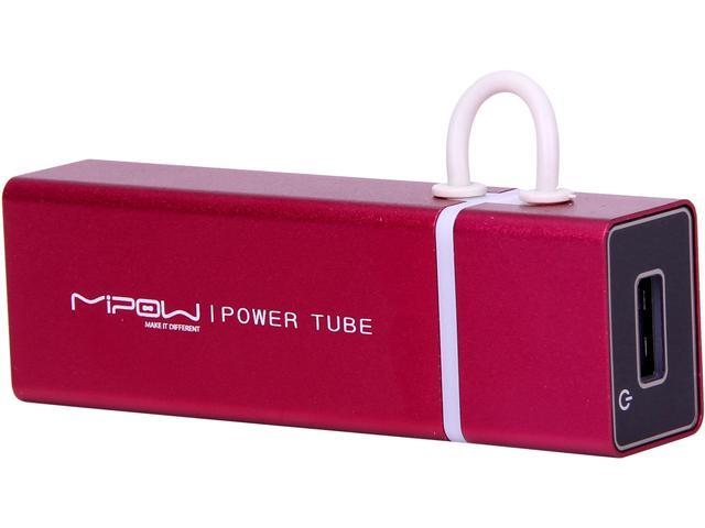 MiPow Power Tube Red 3000 mAh Portable Battery SP3000-RD