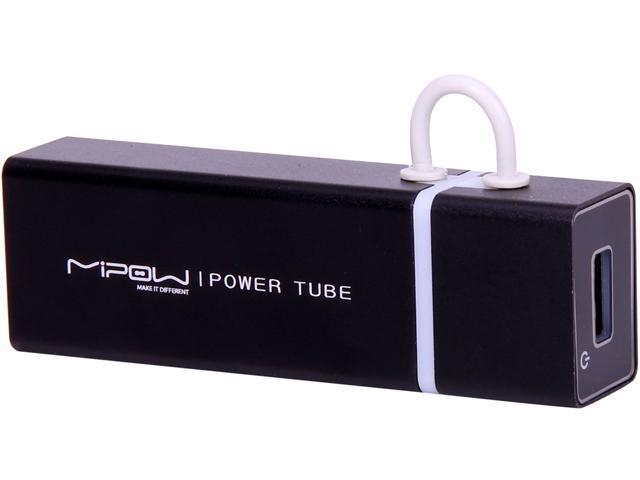 MiPow Power Tube Black 4000 mAh Portable Battery SP4000-BK