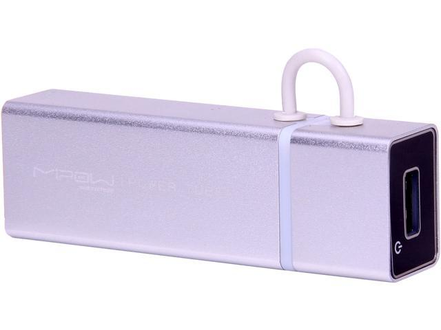 MiPow Power Tube Silver 4000 mAh Portable Battery SP4000-SR