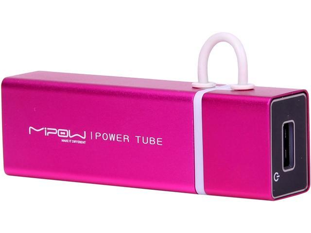 MiPow Power Tube Pink 4000 mAh Portable Battery SP4000-PK