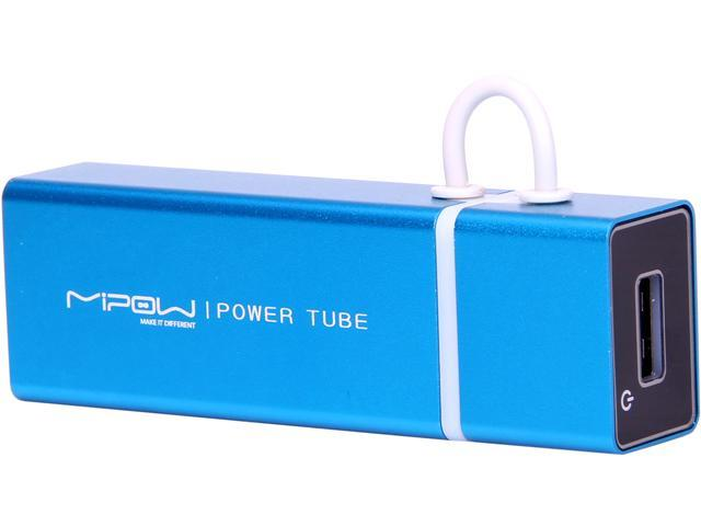 MiPow Power Tube Light Blue 4000 mAh Portable Battery SP4000-LB