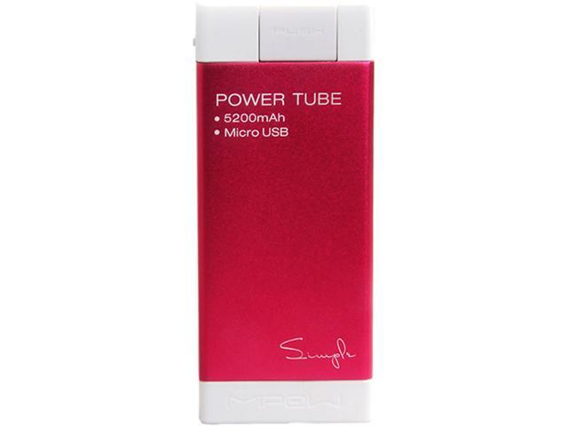 MiPow Power Tube Simple 5200 Red 5200 mAh Portable Charger SPM-04-RD