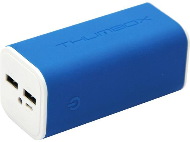 MiPow Thumbox Jelly Power Navy Blue 10400 mAh Dual Output Portable External Backup Battery Charger Power Bank JOB03E-NB