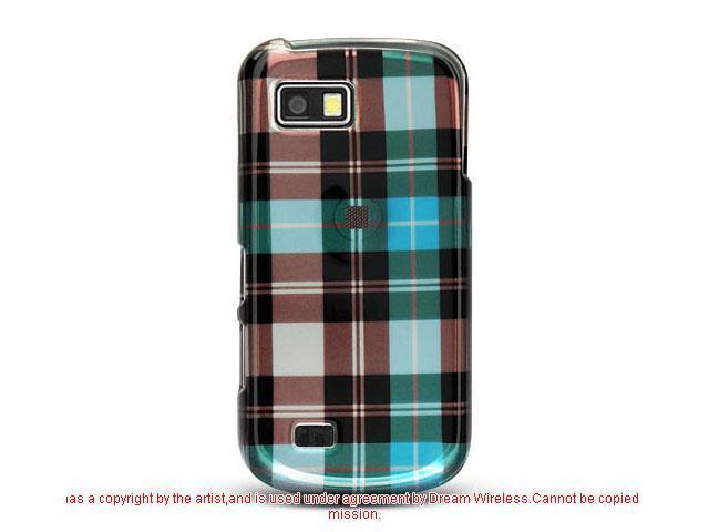 Samsung T939 Blue Checker Design Crystal Case