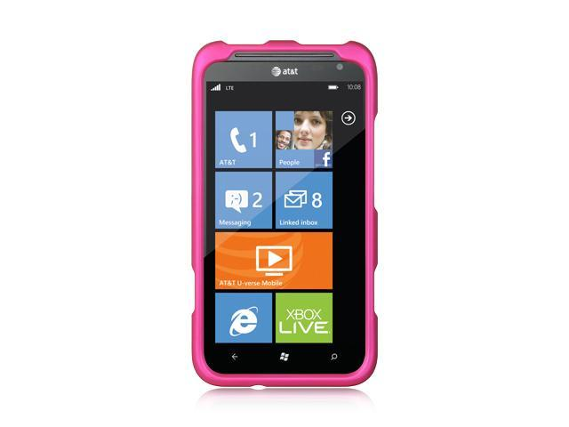 HTC Titan II Hot Pink Crystal Rubberized Case