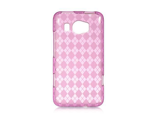 HTC Titan II Hot Pink Checker Design Crystal Skin