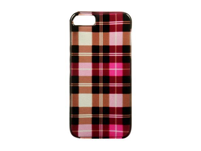 Luxmo Hot Pink Checker Snap-on Hard Case For iPhone 5 CAIP5HPCK