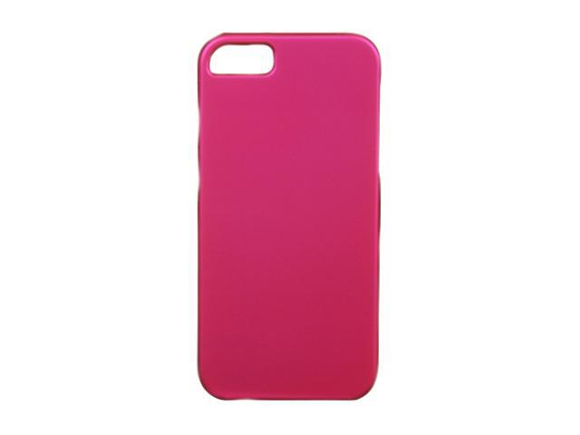 Luxmo Hot Pink Solid Rubberized Snap-on Case For iPhone 5 CRIP5HP