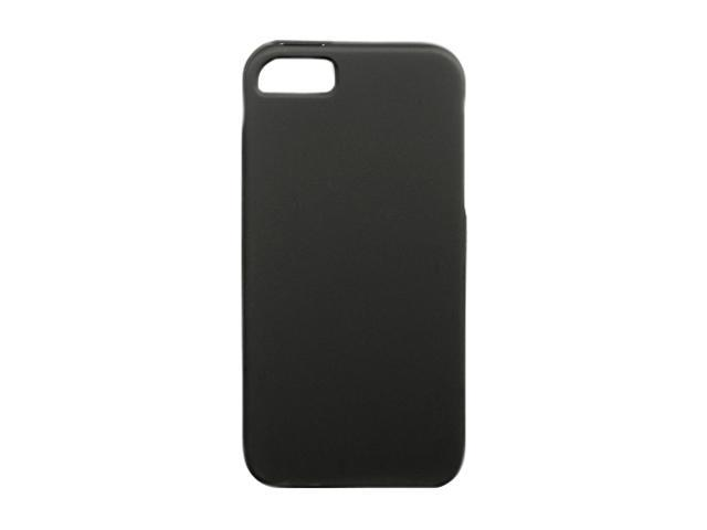 Luxmo Black Solid Rubberized Snap-on Case For iPhone 5 CRIP5BK
