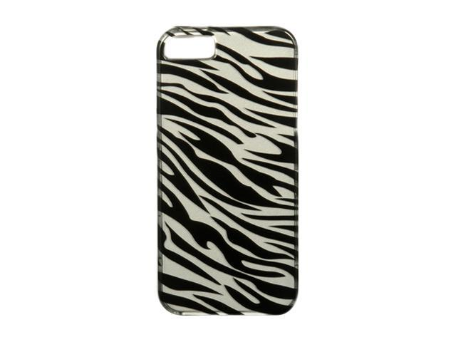 Luxmo Silver Zebra Snap-on Hard Case For iPhone 5 CAIP5SLZ