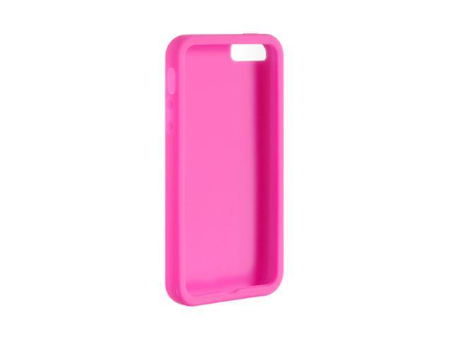 Luxmo Hot Pink Solid Silicone Soft Skin Case For iPhone 5 SCIP5HP-PR