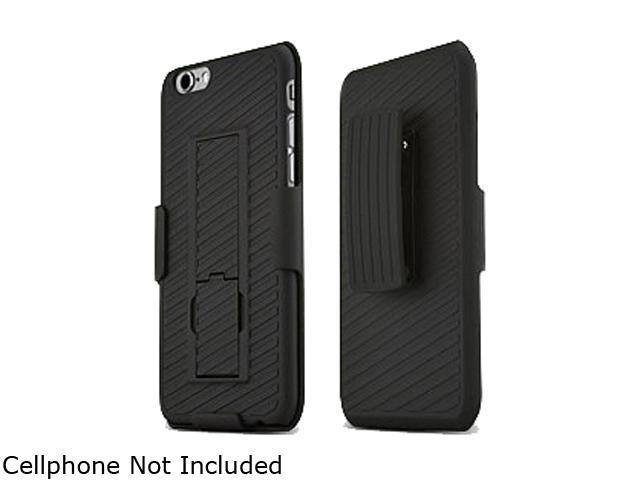 Wireless Xcessories Group Black Apple Iphone 6 Kickstand Holster Shell Combo - BULK FXCOV6