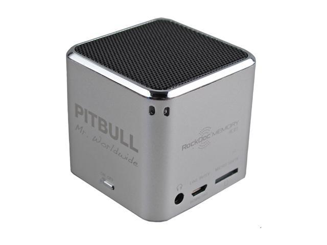 Pitbull RockDoc MEMORY Portable 1way 4GB/MP3 Speaker 900581, Silver