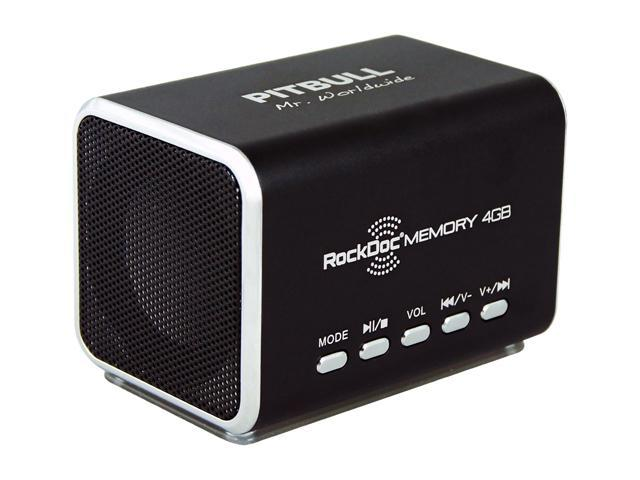 RockDoc 900585 Pitbull MEMORY Portable 2way 4GB/MP3 Speaker