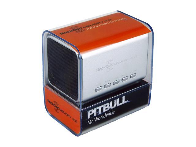 Pitbull RockDoc MEMORY Portable 2way 4GB/MP3 Speaker 900582, Silver