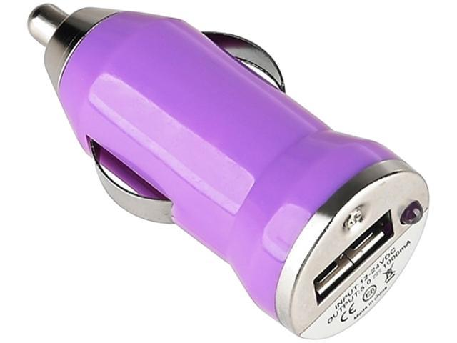 Insten 949447 Purple Universal USB Mini Car Charger Adapter