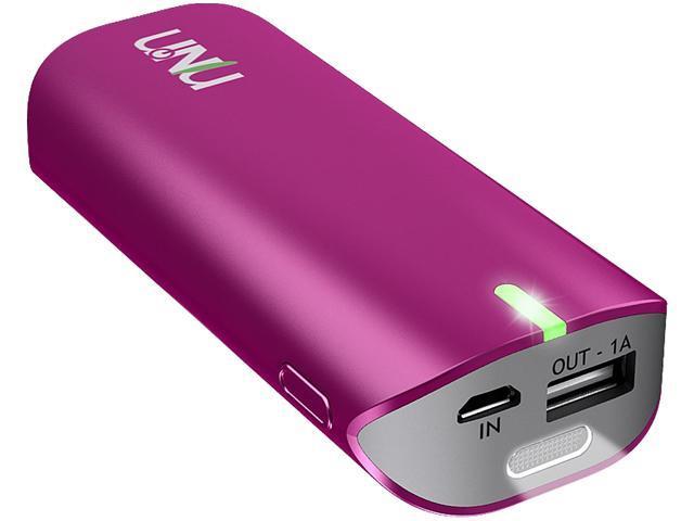 UNU Enerpak Tube Magenta 5000 mAh Flashlight Universal Battery Pack for Smartphones and Tablets UNU-EP-02-5000MW