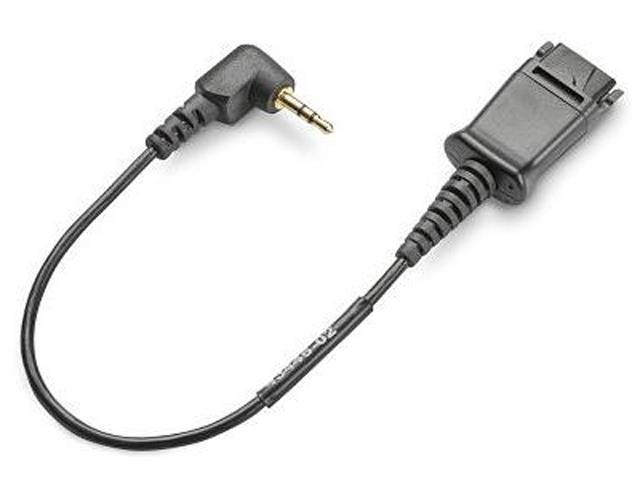 PLANTRONICS 61866-01 Gray Quick Disconnect to 2.5mm Cable Adapter