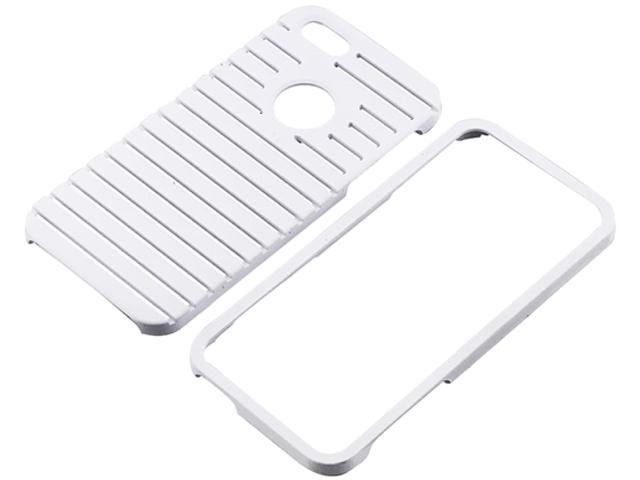 Insten White Parallax Snap-on Rubber Coated Case For iPhone 5 / 5S 823668