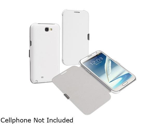 Insten White Leather Case w/ Magnetic Flap For Samsung Galaxy Note II N7100 857181