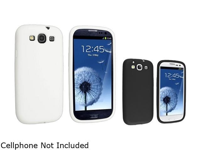 Insten White & Black 2-Pack Silicone Skin Case For Samsung Galaxy S3 674983