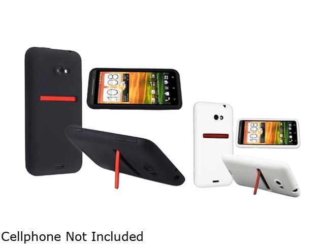 Insten Black & White 2-Pack Silicone Skin Case for HTC EVO 4G LTE 663122