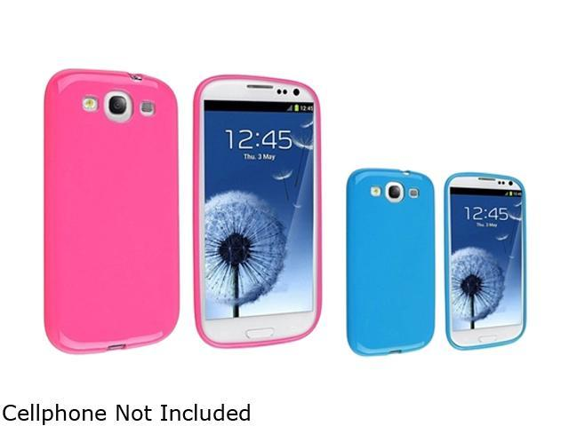 Insten Hot Pink Jelly & Blue Jelly 2-Pack TPU Rubber Skin Case for Samsung Galaxy S3 658261