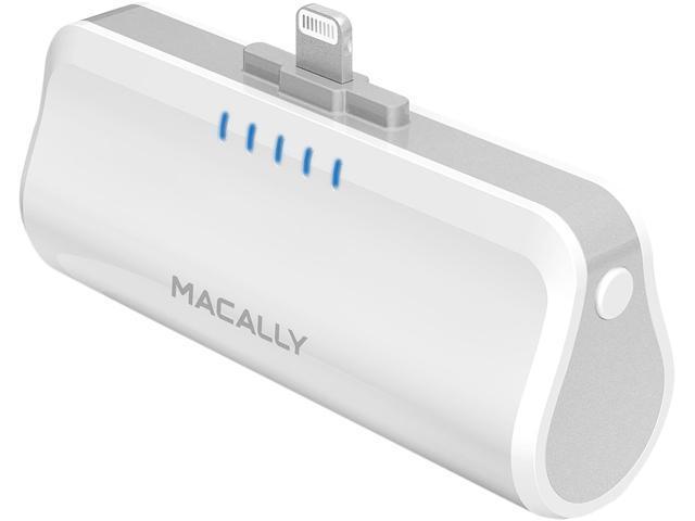 Macally White 2600 mAh Portable Battery Charger MBP26L