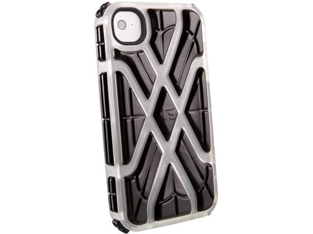 G-Form XTREME Square Ruggedized Protective Case for Apple iPhone 4 & 4S (Ice Case/Black RPT)