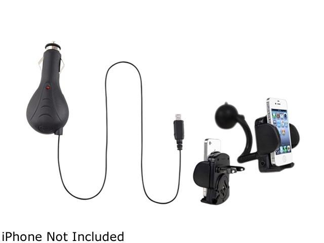 Insten 905423 Retractable Car Charger + Mobile Holder for Samsung Galaxy Note Nexus Attain i777