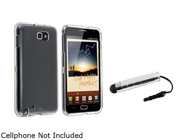 Insten Clear Crystal Hard Plastic Case + Silver Stylus Pen For Samsung Galaxy Note N7000 920604