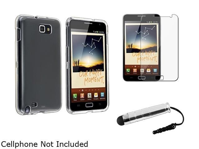 Insten Clear Crystal Hard Plastic Case + Reusable Screen Protector + Stylus Pen For Samsung Galaxy Note N7000 920606