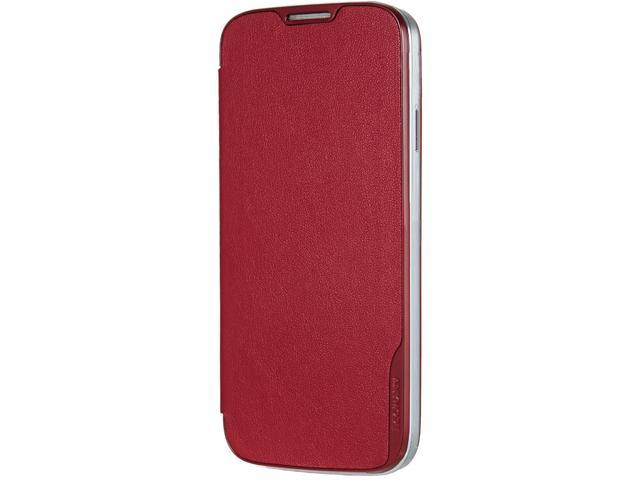 ANYMODE Red Folio Hard Cover For Samsung Galaxy S4 BRFH000NRD