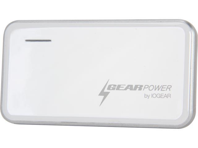 IOGEAR White 2400 mAh 2400mAh Capacity Mobile Power Station for Smartphones and USB devices GMP2K