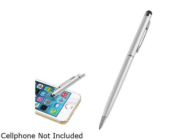 Insten Silver 2-in-1 Capacitive Touch Screen Stylus Ballpoint Pen 1880737