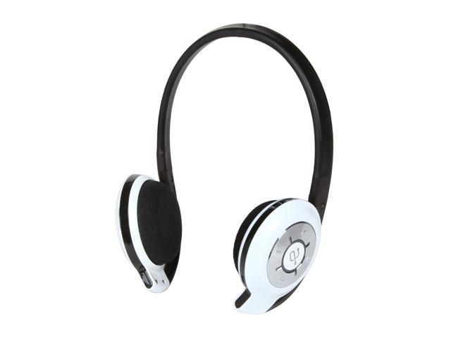 Aluratek ABH02F White Bluetooth Stereo Headphone with Built In Mic