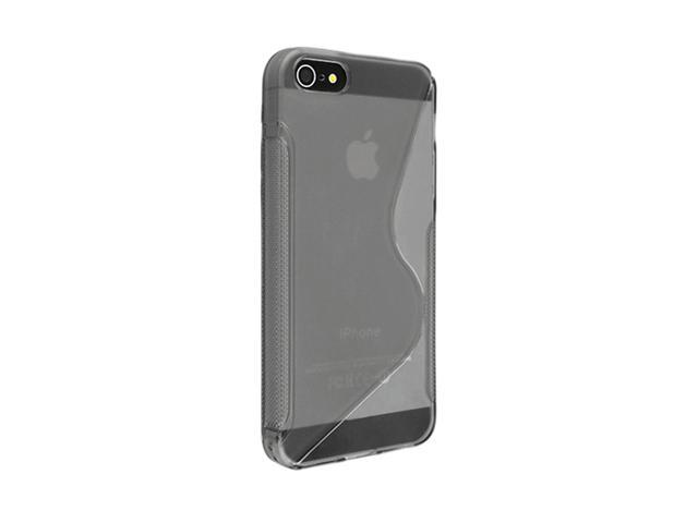 Insten Clear Smoke S Shape 1X TPU Rubber Skin Case For iPhone 5 / 5S 697656